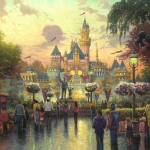 "Disneyland 50th Anniversary Sizes 18x27""  24x36""  28x42"""