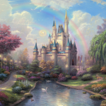 "New Day at the Cinderella Castle Sizes 18x24""  25x34""  30x40"""