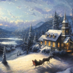 "Sunday Evening Sleigh Ride - 12x18"" £329"