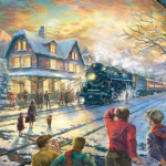 """All Aboard for Christmas Sizes 12x18"""" - £795 18x27"""" - £1,295 24x36"""" - £1,695"""