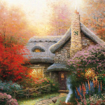 """Autumn at Ashley's Cottage (SN edition) Size 16x12"""" - £675"""
