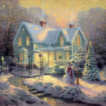 """Blessings of Christmas Sizes 16x20"""" - £995 20x24"""" - £1,195"""