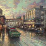 """Cannery Row Sunset Sizes 12x18"""" - £795 18x27"""" - £1,195 24x36"""" - £1,695"""