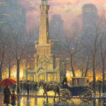 """Chicago, Winter at the Water Tower Sizes 16x12"""" - £775 24x18"""" - £1,195 34x25"""" - £1,695"""