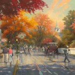 "Autumn on MacKinak Island 18x24"" - Was £1,295 NOW £600"