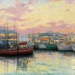 "Fisherman's Wharf, San Francisco 24x36"" - Was £2,780 NOW £1,680"