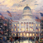"Flags Over the Capitol 18x27"" - Was £3,380 NOW £750"