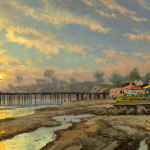 "Capitola Sunset Sizes 12x24"" 18x36"""