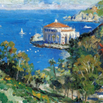 """Catalina, View from Descanso Canyon Size 12x16"""""""