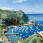 """Catalina, View from Mt. Ada Size 12x16"""""""