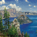 "Crater Lake Sizes 12x16"" 16x20"""