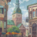 Dome Cathedral, Riga, Latvia Size 18x24""
