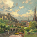 "Edinburgh, Scotland Sizes 12x16"" 18x24"""