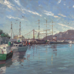"Fisherman's Wharf Marina Sizes 12x16"" 18x24"""