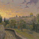 Jerusalem Sunset Size 18x24""