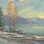 "Lake Tahoe Shoreline, Winter Sizes 12x16"" 18x24"""