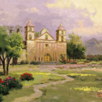 "Old Mission, Santa Barbara Sizes 12x16"" 16x20"""