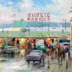 "Pike Place Market, Seattle Sizes 12x16"" 16x20"""