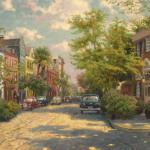 "Rainbow Row, Charleston Sizes 12x18"" 18x27"""