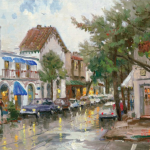 "Rainy Day in Carmel Sizes 12x16"" 16x20"""