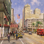 San Francisco, Union Square Size 16x20""