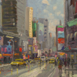 Times Square Size 9x12""