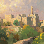 """Tower of David Size 18x24"""""""