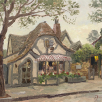 "Tuck Box Tea Room, Carmel Sizes 12x16"" 18x24"""